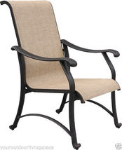 Sling Patio Dining Set 9 pc Cast Aluminum Furniture Outdoor Bronze image 6