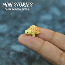 Dollhouse Miniature Animal Fairy Garden Tiny Yellow Turtle Figurine Set ... - £2.27 GBP