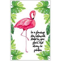 Be A Flamingo Motivational Wall Art - $18.32