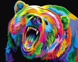COLOURFUL BEAR CROSS STITCH KIT - $34.90