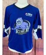 Evansville Icemen Promo ECHL Hockey Jersey SGA Defunct Team Blue Youth XL - $29.69