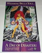 1985 New Teen Titans 17 DC Comics 21x13 Starfire promotional promo poste... - $29.69