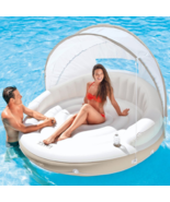 Outdoor Daybed Canopy Pool Inflatable Chaise Lounge Island Sunbed Lounge... - $103.94
