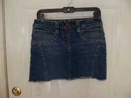 American Eagle Outfitters Front Zip Denim Mini Skirt Size 4 Women's NWOT - $17.94