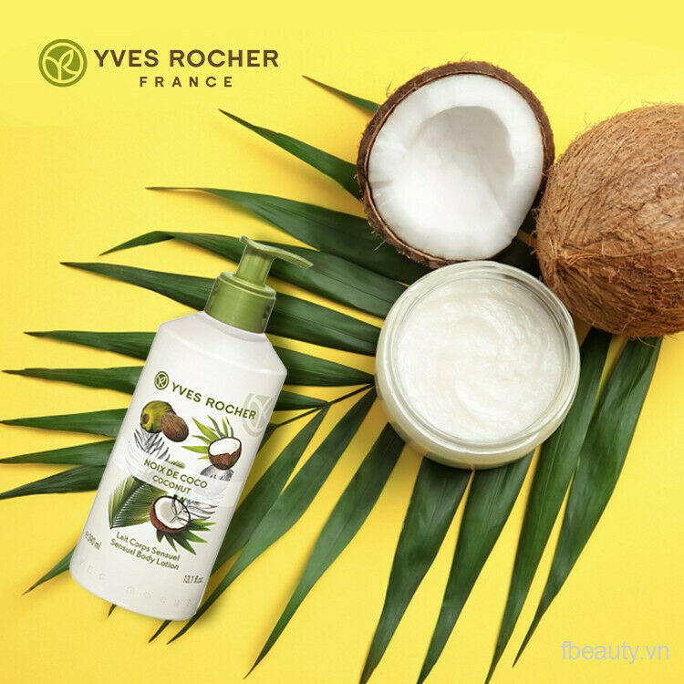 Yves Rocher LES PLAISIRS NATURE Sensual Body Lotion - Coconut  390 ml New - $25.99