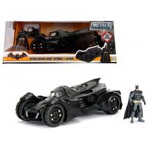 Arkham Knight Batmobile with Batman Diecast Figure 1/24 Diecast Model Ca... - $52.98