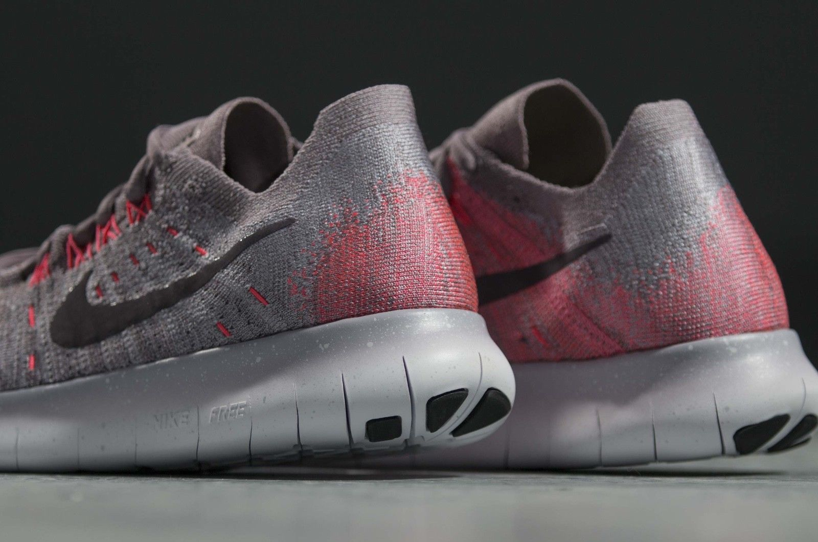 Nike Womens Free RN Flyknit 2017 Running Shoe TAUPE GREYPORT WINE SOLAR RED 8.0
