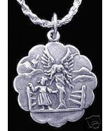 NICE Heavens Gate Guardian Angel Sterling Silver 925 charm - $20.86