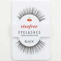 Visofree® #13 False Eyelashes Black 3D Eyelashes Human Hair Handmade Thi... - $4.29