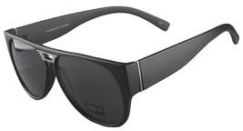NEW Quay Eyeware Australia 1485 Matte Black Smoke Gray Lens 100% UV Sunglasses