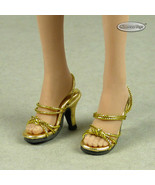 1/6 Phicen, TB League, Hot Toys, Cy & NT - Sexy Female Gold Strap Heels ... - $18.32
