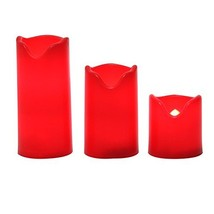 iZAN Red Flameless LED Battery Operated Votive Candles with Timer Flicke... - $10.15
