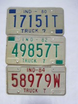 1980 1982 1984 Indiana License Plate Lot - $36.58