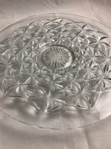 LARGE 14.5 VINTAGE CRYSTAL GLASS STAR CUT FOOTE... - $26.11