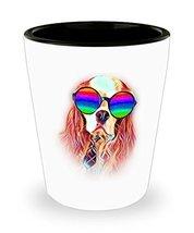 Cavalier King Charles Spaniel Shot Glass Neon Sunglasses - Perfect Gift ... - $10.84