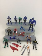Power Rangers Super Samurai Toy Action Figures Big Lot 20pc Weapons Saban Bandai - $40.05
