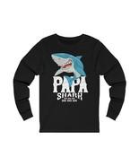 Papa Shark Doo Doo Doo Saltwater Fly Long Sleeve Cotton Fishing T-Shirts... - $23.95