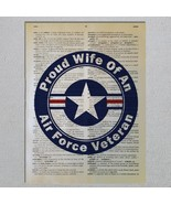 US Air Force Veteran Proud Choose A Family Member Dictionary Art Print - $11.00