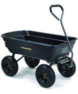 Black 600 Pound Load Poly Dump Cart For Yard Lawn Garden Supplies Debris... - $155.00