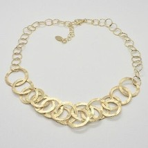 Choker Necklace Silver 925 Foil Gold with Circles by Maria Ielpo Made in Italy - image 2