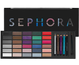 Sephora Artist Color box Makeup Palette Eyes, Lips, & Pencils Set Kit New - $120.00