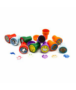 100pc Assorted Animal Self Ink Rubber Stamps Crafts Favors School Suppli... - $9.49
