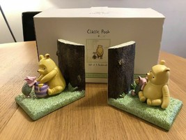 Extremely Rare! Walt Disney Winnie the Pooh Classic Figurine Bookends St... - $311.85