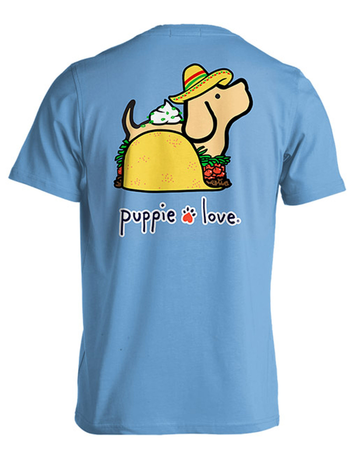 Puppie Love Rescue Dog Adult Unisex Short Sleeve Cotton Tee,Taco Pup