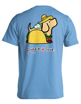 Puppie Love Rescue Dog Adult Unisex Short Sleeve Cotton Tee,Taco Pup image 1