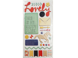Thickers Lovely Icons Chipboard Shapes, Self-Adhesive