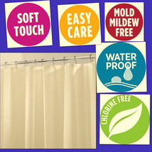 "Shower Curtain Waterproof Fabric For Bathroom PVC Free 72"" x 72"" FREE SH... - $14.53"