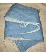 VINTAGE 1982 TEDDY BEDDY BEAR NURSERY CRIB BEDDING BLUE BUMPER W TIES 41... - $36.47