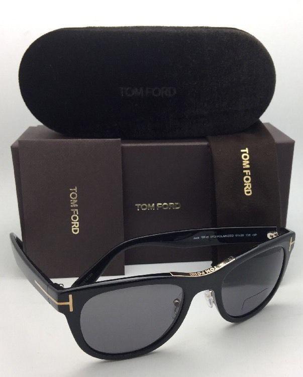 0edd178ced Polarized TOM FORD Sunglasses JACK TF 45 01D 51-20 135 Black & Gold w