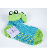 MISS ATTITUDE NWT WOMENS ADULT YOUTH KNIT FROG SOCKS ONE SIZE BLUE GREEN... - £4.83 GBP