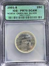 2001 S North Carolina Silver State Quarter PR70DCAM ICG Toned - $59.40