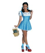 Secret Wishes Sequin Adult Dorothy Costume Cosplay Dress Up XS Wizard of Oz - $21.77