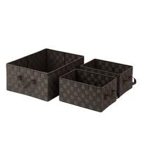 Honey-Can-Do 3-Piece Woven Basket Set Storage Box in Espresso - $38.99