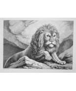 1801 ORIGINAL ETCHING Print by Howitt - Lion King of Animals - $30.60