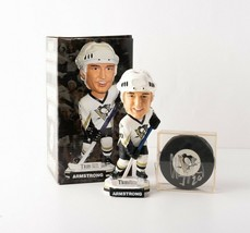 Lot of 2 Pittsburgh Penguins Memorabilia Colby Armstrong Bobble Autographed Puck - $29.69