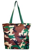 Camo Womens Ladies Large Tote Bag Purse Handbag Shopping Carry On Luggage - $9.83
