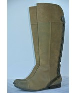 Jessica Simpson Womens 6 M Brown Distressed Leather Tie Knee High Boots ... - $28.70