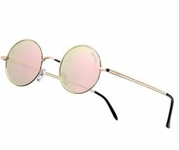NIEEPA John Lennon Vintage Round Polarized Hippie Sunglasses Small Circle image 1