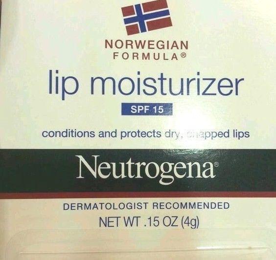 NEUTROGENA Lip Moisturizer Balm Norwegian Formula SPF15 Chapped Sun VHTF New