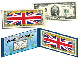 UNITED KINGDOM - Flags of the World Genuine Legal Tender U.S. $2 Bill Cu... - $13.81