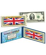 UNITED KINGDOM - Flags of the World Genuine Legal Tender U.S. $2 Bill Cu... - $13.81