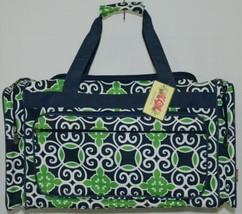 NGIL THQ423NAVY Sailor Print Canvas Duffle Bag Colors Navy Green and White image 1