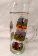Golfer Martini Pitcher Glass Beaker Style Barware - Ashby Golf Cartoon - $11.99