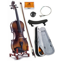 NEW Solid Maple Spruce Fiddle Violin 3/4 Size w Case Bow Rosin String VN201 - $79.99
