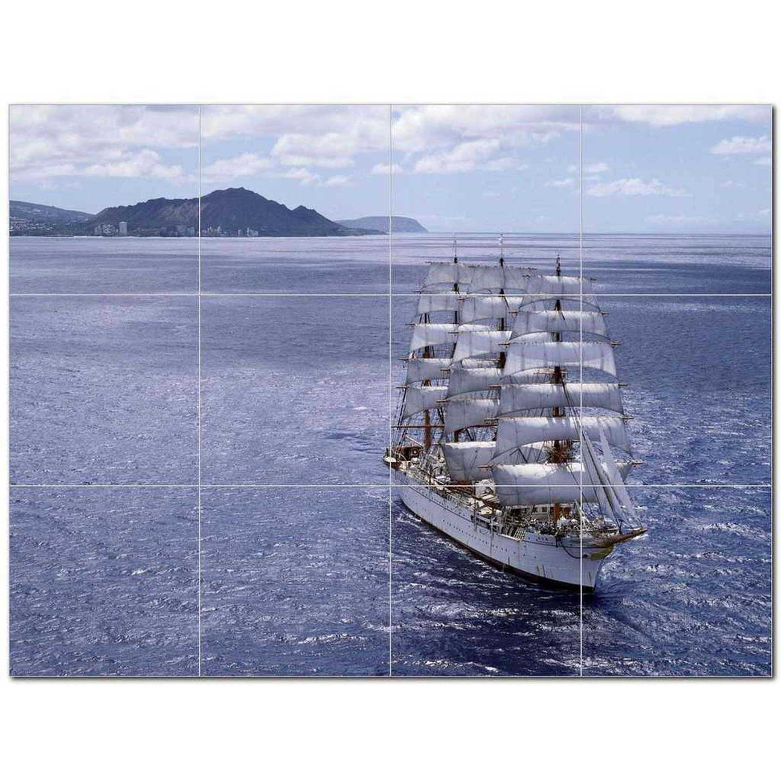 Primary image for Ship Picture Ceramic Tile Mural Kitchen Backsplash Bathroom Shower BAZ405868