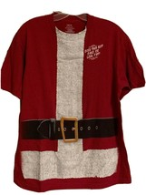 DOES THIS SUIT MAKE ME LOOK FAT T-Shirt Mens Large Funny Christmas Santa... - $12.99